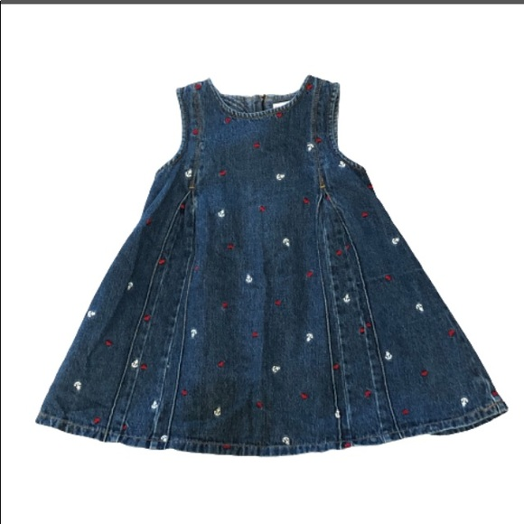 Gymboree Anchor and Heart Jean Dress